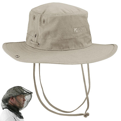 Trekmates Wide Brim Bush Hat Mosquito/Midge head net included