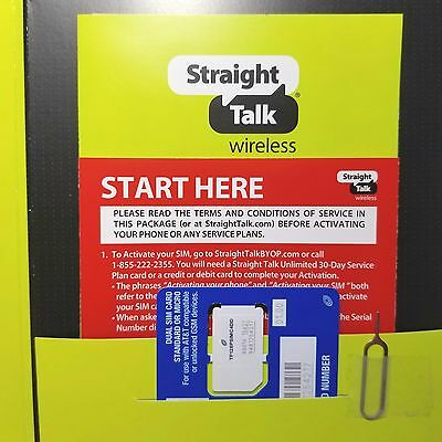 Straight Talk AT&T Compatible LTE Standard / Micro Dual SIM Card Activation Kit