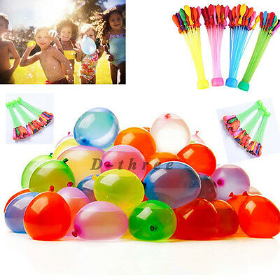 3 Packs 111pcs Magic Water Balloons Bombs Toys Kids Garden Party Summer Happy US