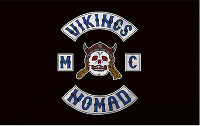 Vikings Nomads  MC Flag 3 by 5