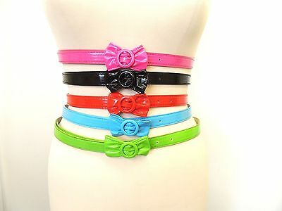 New Ladies Vintage 1950's style Pin-up thin skinny belt with Bow