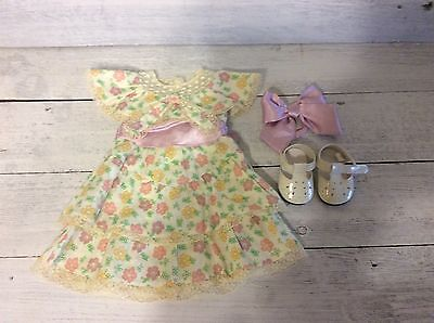 American Girl Doll Kit's Spring Dress, Shoes, Hair Bow