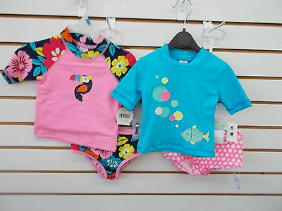 Infant Girls Carter's 2pc Assorted Swim Shirt Swimsuits Size 18 Months-24 Months