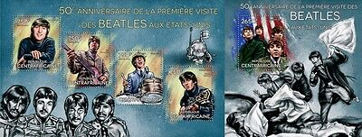 CA14301ab Central Africa 2014 The Beatles MNH SET
