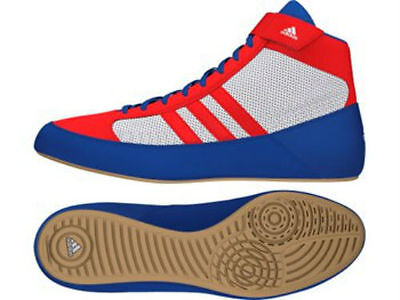 Adidas Kids Havoc Wrestling Boots / Shoes - Red/White/Blue - AQ3324Z