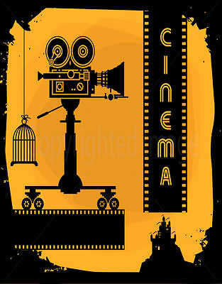 Cinema  Large Metal Tin Sign Poster Vintage Style Plaque