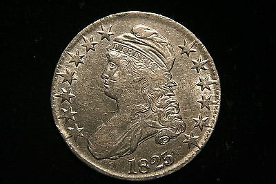 1825 Draped Bust Silver Half Dollar,  XF ,  Better Date!