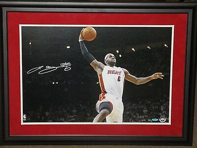 NBA LEBRON JAMES SIGNED 16x24 GLIDE DUNK UDA LIMITED EDITION 50 BIG BOLD AUTO