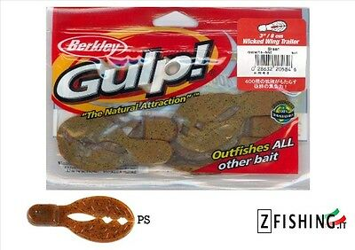 5 LURES RUBBERS GULP! BERKLEY WICKED WING TRAILER 8cm PS spinning lago bass