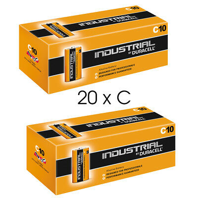 20 Duracell Industrial C Alkaline Batteries Replaces Procell MN1400 1.5V LR14