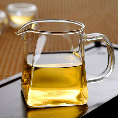 Square Bottom Glass Teapot Tea mug tea Kettle Set Thick Cup Puer Coffee TeaSet