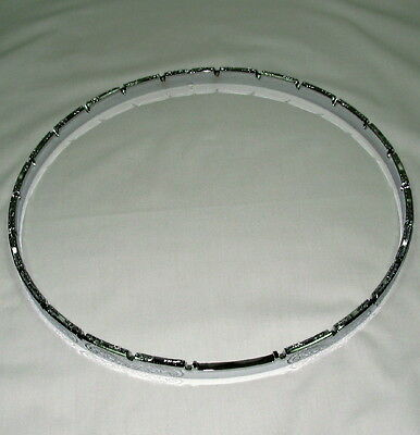"Banjo Tension Hoop-11"" engraved notched chrome plated"