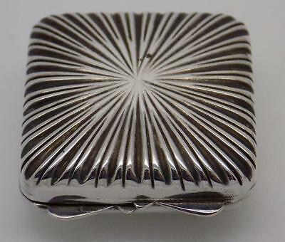 Vintage Solid Silver Squared Pill / Snuff Box - Stamped - Made in Italy