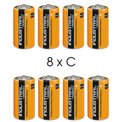 8 Duracell Industrial C Alkaline Batteries Replaces Procell MN1400 1.5V LR14