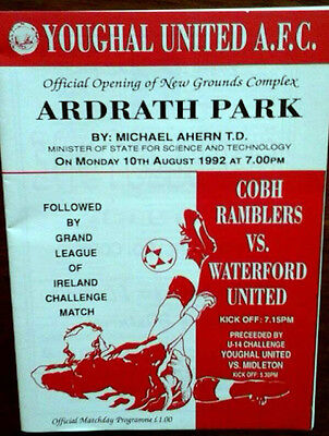 Cobh V Waterford 10/8/1992 Opening Of Youghal Utds Ground
