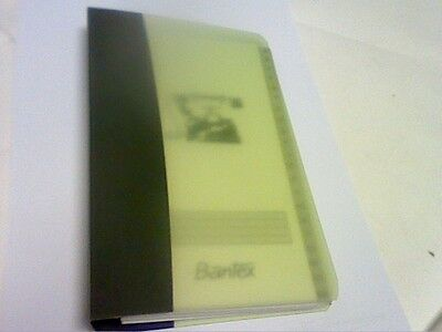 Bantex Telephone And Address Refillable Slim Binder-See Picture-Description
