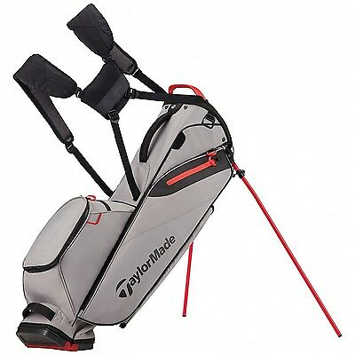 TaylorMade FlexTeck Lite Stand Bag 2017 Model Grey/Red