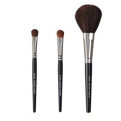 ON&OFF, Set di 3 pennelli da trucco, Chisel Pointed Fluff, Chisel (P8P)