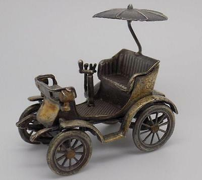 Antique Solid Silver RARE Delahaye Old Car Miniature 1901- Stamped - Italian