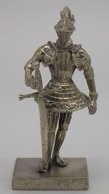 Vintage Solid Silver RARE Armor / Soldier Miniature - Stamped - Made in Italy