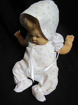 "2 Piece Sleeper Set For 12"" Vintage Vogue Baby Dear Doll"