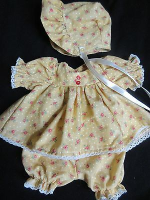 "3 Piece Calico Dress Set For 12"" Vintage Vogue Baby Dear Doll"