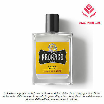 Proraso Colonia Natural Spray Profumo Uomo Men Man Him Homme Wood Spice 100Ml