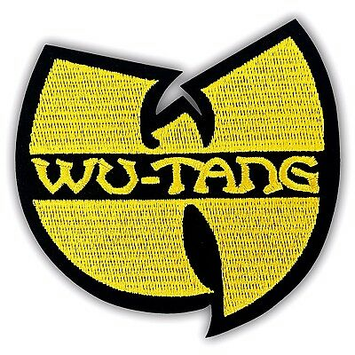 WU-TANG CLAN Patch Embroidered Hip hop Music Band Iron on Hardcore Logo Applique