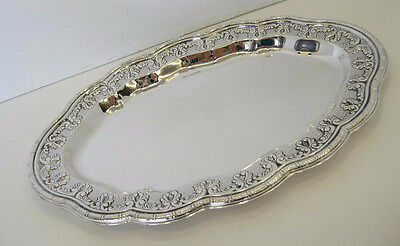 925 Sterling Silver Handcrafted Martel Swirl Embossed Design Tray 51084-0128