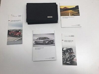 Audi A6 S6 2013 Owners Manual Book Set  // In Case //. Free Shipping