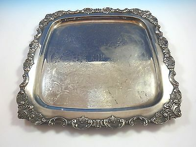 Vintage Baroque by Wallace Silverplate Square Ornate  Serving  Tray