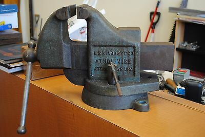"""Starrett No.924 Vise With 4"""" Jaws"""