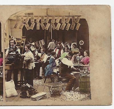 Stereo Stereoview Genre PHOTOGRAPHER's FACTORY London A. Gaudin ca. 1860