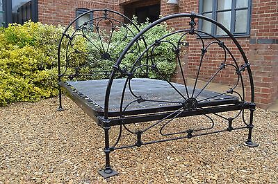 Lovely Vintage / Reproduction Iron Double Victorian bed Frame / Bedstead & base