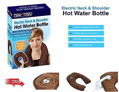 Rechargeable Electric Neck & Shoulder Hot Water Bottle Warmer Auto Thermostat