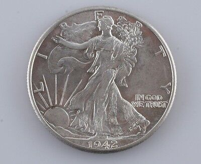 1942 Walking Liberty Silver Half Dollar 50c Gem (BU) Brilliant Uncirculated