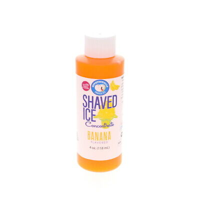 Banana Hawaiian Shaved Ice and Snow Cone Unsweetened Flavor Concentrate 4 Fl Oz