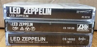 (3) Led Zeppelin Hard Rock Cassette Tapes: I, IV (Zoso), In Through the Out Door