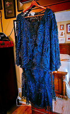 Soulmates Dress Mother of the Bride, 3X, 3 piece, Navy Blue Formal Wedding, NonS