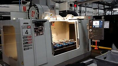 Used Haas VF-4SS CNC Vertical Machining Center 50x20 Mill 4th ready 2008