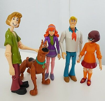 Scooby Doo (the whole gang!) Bendable Joints Action Figures Hanna-Barbera
