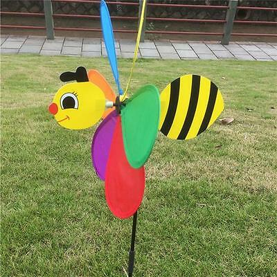 Large Colorful Bee Windmill Wind Spinner for Garden Decor