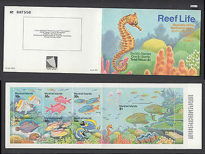 XG-AH935 US MARSHALL ISLANDS - Marine Life, 1993 Fish, Reef Life MNH Booklet