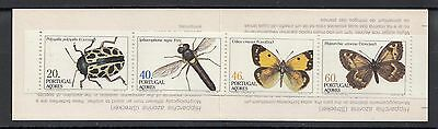 XG-U225 AZORES - Butterflies, 1985 Insects, 4 Values MNH Booklet