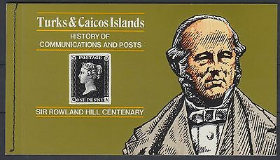 XG-AC123 TURKS & CAICOS IND - Rowland Hill, 1979 Cent., Aviation MNH Booklet