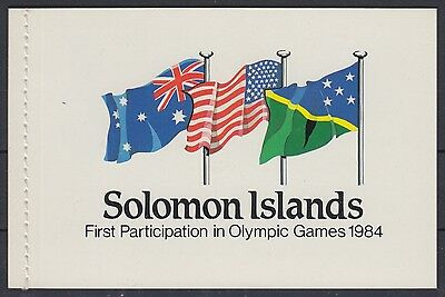 XG-AE849 SOLOMON ISLANDS IND - Olympic Games, 1984 Los Angeles MNH Booklet