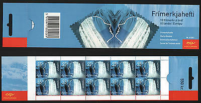 XG-N446 ICELAND - Europa Cept, 2001 Water, Natural Resource 55Kr MNH Booklet