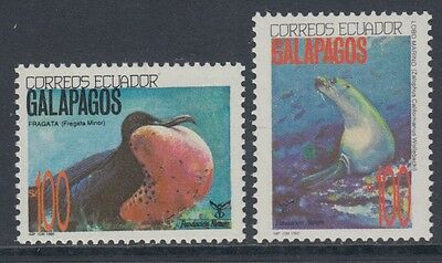 XG-BA960 ECUADOR - Wwf, 1992 Wild Animals, Galapagos, 2 Values MNH Set