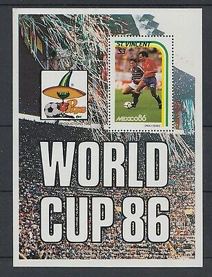 XG-T154 ST VINCENT - Football, 1984 Mexico 1986 World Cup MNH Sheet