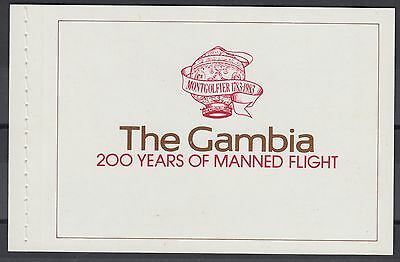 XG-AE034 GAMBIA IND - Aviation, 1983 Manned Flight, Hot Air Balloon MNH Booklet